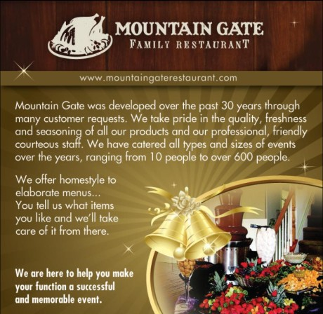 Mt. Gate Family Restaurant Ad