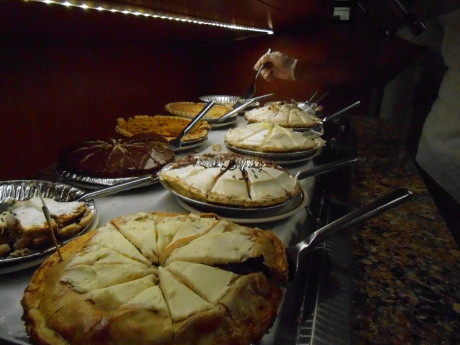 Pies? Yes, we do pies! You can enjoy them with our Buffet, order off menu or  you can order one to take home or for your upcoming event!
